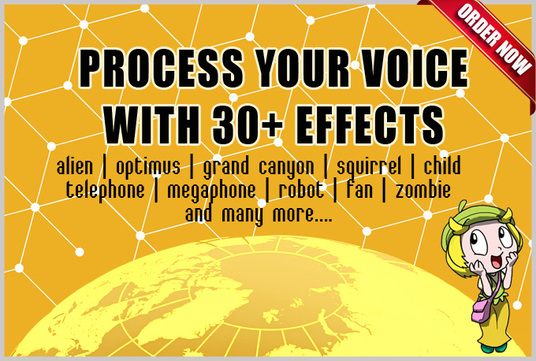 I will process your voice/recording with 30+ cool effects