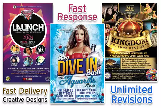 I will design attractive flyer, brochure, poster and postcard