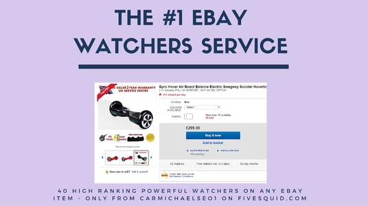 I will increase your eBay SEO by adding 40 watchers to any listing with bonus