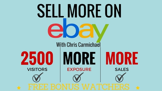 I will boost your eBay listing rank with 2500 views FREE bonus watchers on your item