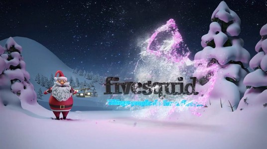 put your logo on 2 video 3d christmas santa