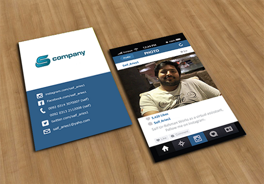 convert your instagram into real business card for £5