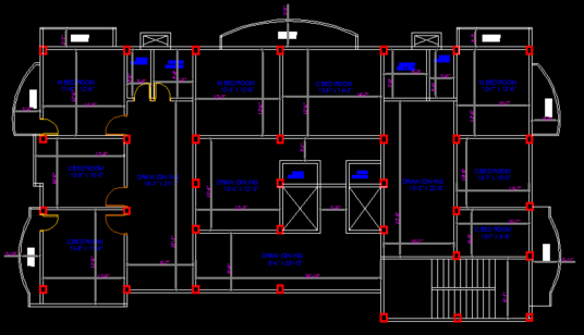 Do Autocad 2d Floor Plan Professionally For 163 5