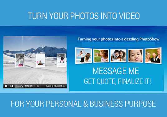 I will edit your pictures or video clips and make wonderful video presentation!