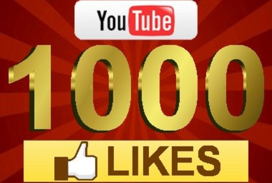 I will give you real 1000+ youtube likes in your YouTube video