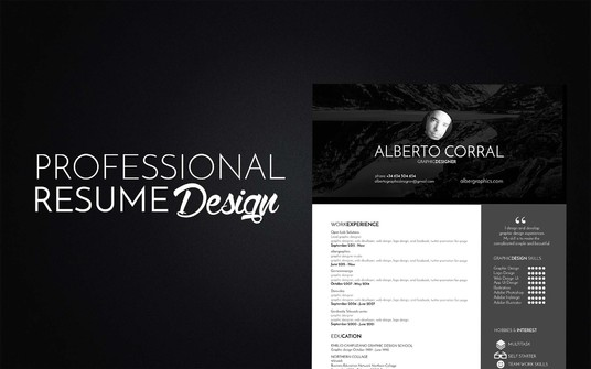 design a professional Resume for you
