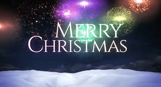 Design your Christmas and New year 2016 luxury greeting animation