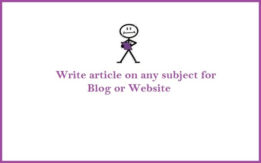 I will write 1000 words article on any subject for your blog or website