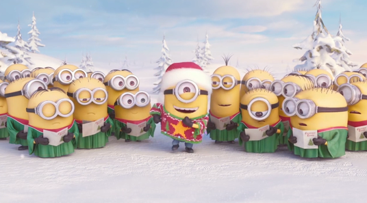 create amazing Minions happy holidays greeting video