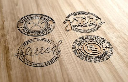 I will design an amazing vintage hipster logo for your business
