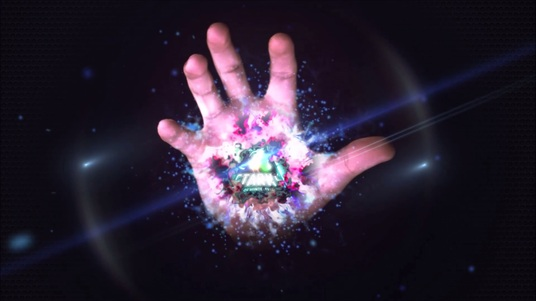 apply your logo with 3d Magic Hand intro Full HD
