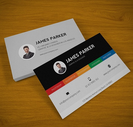 Freelance double sided flyer services online fivesquid i will design a professional double sided business card reheart Choice Image