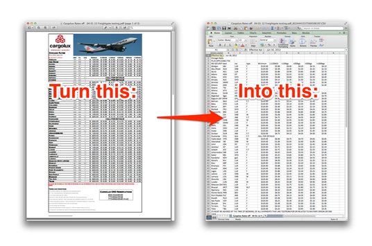 I will convert PDF or jpg to Word or Excel