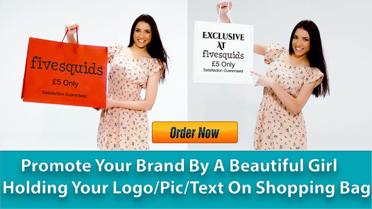 cccccc-hold a Shopping bag with your Logo or Image