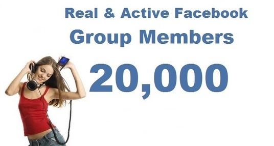 add 20000 Facebook group members to your group