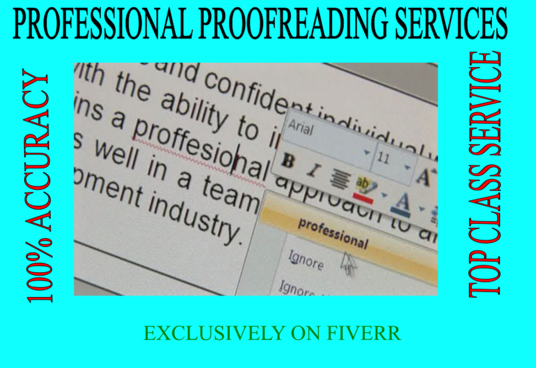 I will professionally proofread and edit your documents