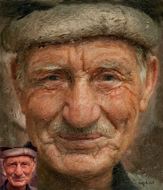 I will create  a oil portrait from your photo for gift