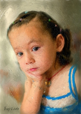 create  a oil portrait from your photo for gift