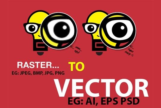 I will make your image into vector form AI EPS PDF PSD