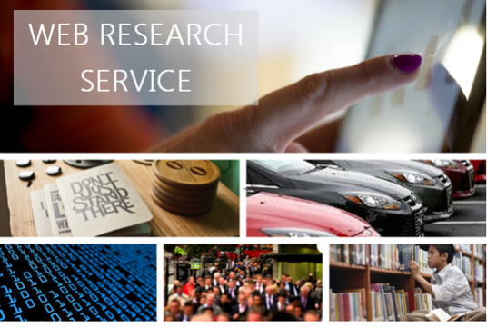 I will do Online Web Research or Academic Research