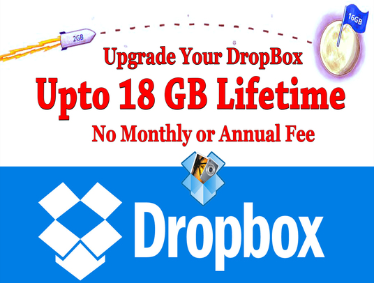 I will expand your Dropbox Space upto 18 GB for lifetime
