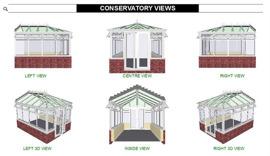 I will create a 6 sided 3D Conservatory CAD drawing based upon your proposed requirements