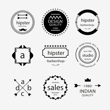 design a Retro vintage Hipster LOGO or BADGE design with unlimited ...