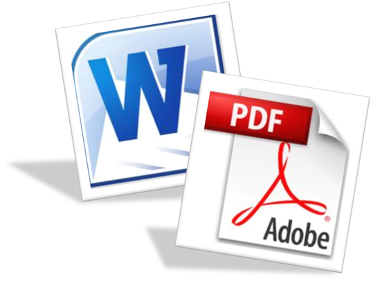 I will convert 5 documents from PDF to WORD document - up to 30 pages and 100MB