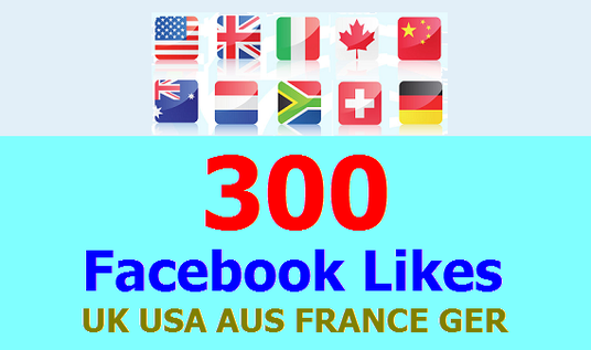 I will Add 300 Facebook Likes from UK, USA, AUS
