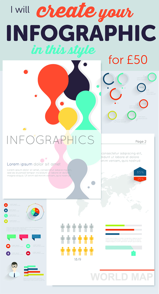 I will create your INFOGRAPHIC in this style