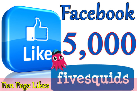 I will Give you 5,000+Instantly started Active Facebook Fan Page likes