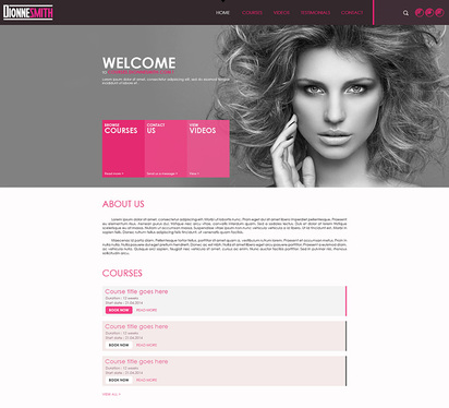 create a single page website with VIP support