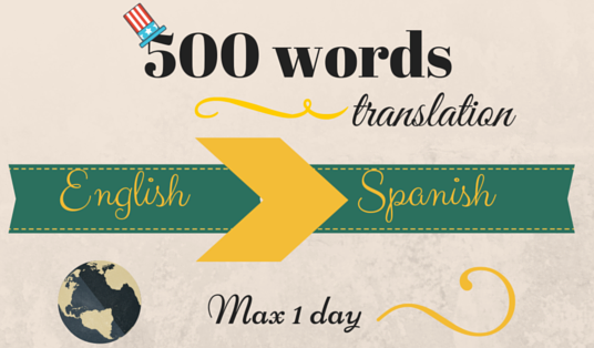 I will translate your English text into Spanish in 24 hs!