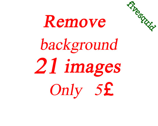 I will remove background of 21 photos within  6 hours