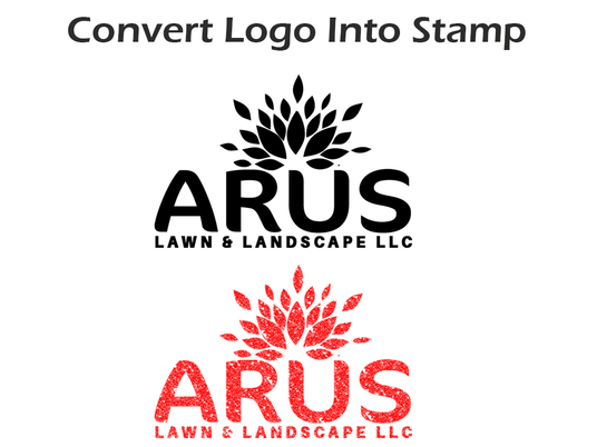 I will change your logo into a stamp