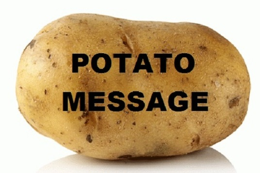 Send message on POTATO!!! for £5 : PotatoMessage - fivesquid