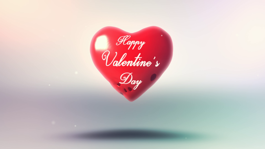 make Valentines day video with your Name & Logo