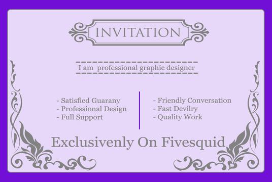 I will Design Professional Invitation Card