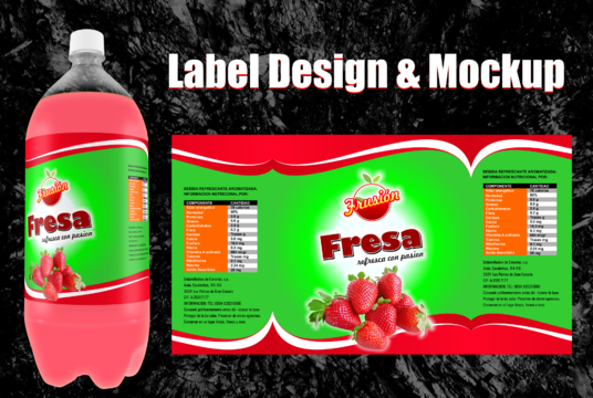 I will design professional label for you product