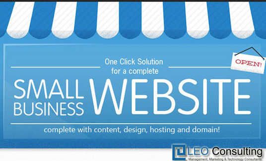 I will make a dynamic CMS based business website complete with content and hosting