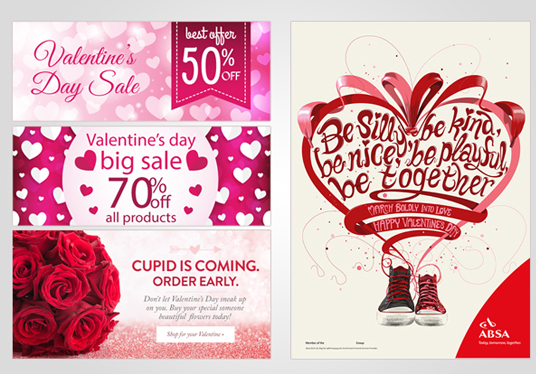 I will design banner for Valentines Day or another event