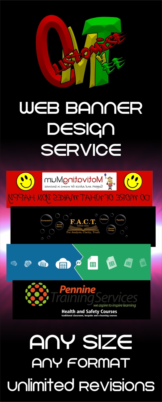 I will design a web banner