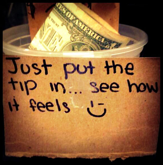 I will Accept Tips in the Tip Jar