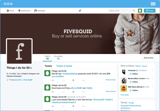 design a beautiful Twitter header photo and profile picture