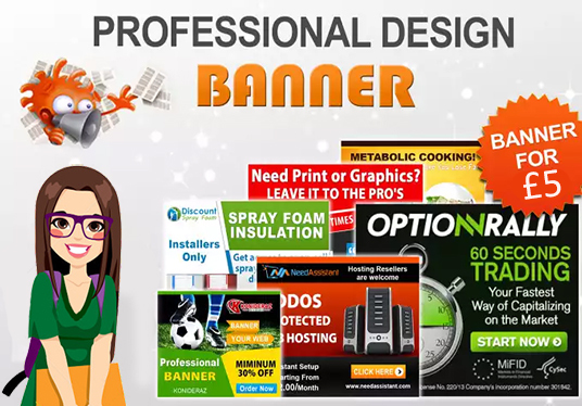 I will design professionally Banner, Header or Ad with unlimited revisions