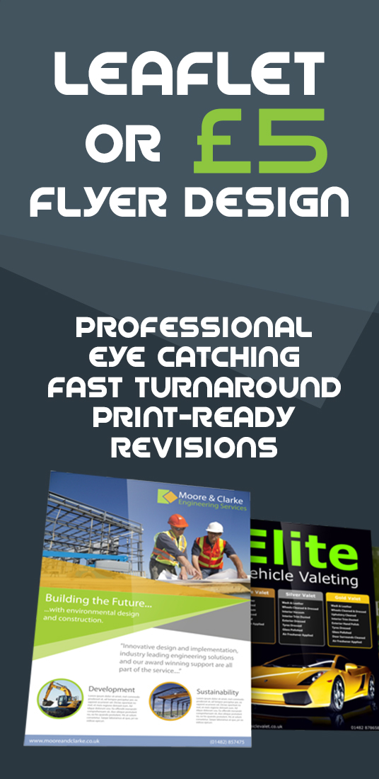 I will design a professional flyer or leaflet