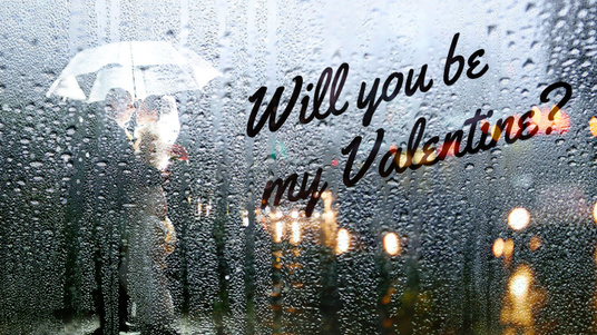 write your  Message on foggy window