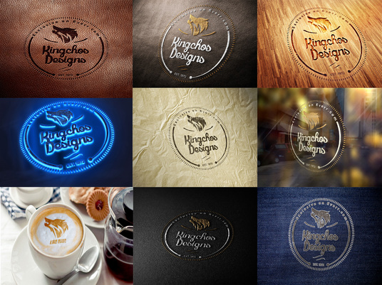 I will make 30 different photorealistic 3d mockups for your logo