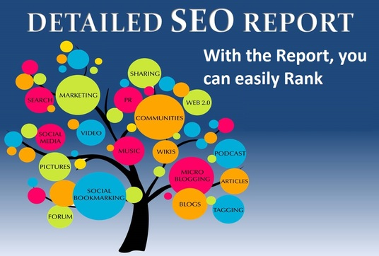 create a full detailed SEO Report to rank your Website
