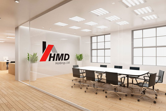 Design Meeting Room and Reception Mock up and design your Logo for ...